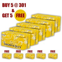 Smooth Day Perfumed Facial Tissue Box -200Sheet, 100 Pulls in Each Box. FX - Pathogen Protection ( BUY 5 GET 5 FREE )