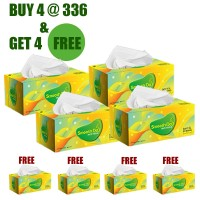 Smooth Day FACIAL TISSUE 3D SFX BIG BOX - Perfumed,Special Smoothness. Pathogen Protection (Buy 4 Get 4 Free)