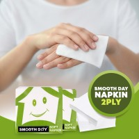 Smoothday Tissue Paper Napkins - 2ply 100 Sheet 50 pull Premium Quality